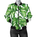 Palm Leaves Pattern Green 3D Printed Unisex Jacket