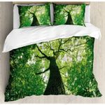 Green Forest Clear Sky Printed Bedding Set Bedroom Decor