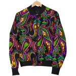 Dark Bohemian Paisley Pattern  3D Printed Unisex Jacket