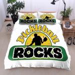 Pickleball Rocks White Bedding Set Bedroom Decor