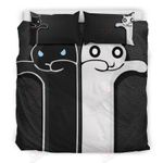 Black And White Couple Cats Bedding Set Bedroom Decor