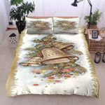 Ring Bell Merry Christmas  Printed Bedding Set Bedroom Decor