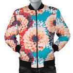 Pink Dahlia Pattern 3D Printed Unisex Jacket