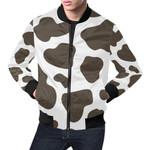Brown Milk Cow Pattern 3D Printed Unisex Jacket