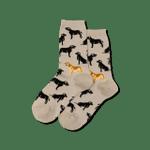 Women's Black Lab/ One Golden Tan Socks Comfortable Funny Cute Unique Socks