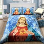 Jesus Heaven Christian Bedding Set Bedroom Decor