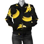 Banana Pattern Black Background 3D Printed Unisex Jacket