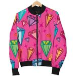 Colorful Diamond Colorful Pattern 3D Printed Unisex Jacket