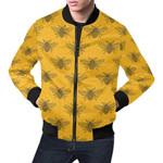 Pattern Honey Bee Diagram Gifts 3D Printed Unisex Jacket