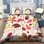 Hedgehog And Flower 3D Bedding Set Bedroom Decor