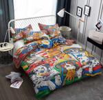 Dog Firefighter Cartoon Printed Bedding Set Bedroom Decor