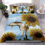 Kitten Sleeping On Sunflower 3D Bedding Set Bedroom Decor