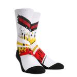 Global Glitch Belgium Patriot White Printed Crew Socks