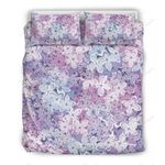 Lilac Purple And White Printed Bedding Set Bedroom Decor