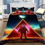 Astronaut Triangle Printed Bedding Set Bedroom Decor