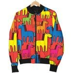 Equestrian Colorful Pattern 3D Printed Unisex Jacket