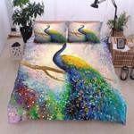 Peacock Beautiful Flower 3D Bedding Set Bedroom Decor