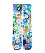 iPhone app Emoji mash up Elite printed crew socks