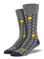 """Recycled Cotton - """"Honey Bee"""" Socks Comfortable Cute Funny Unique Unisex Socks"""
