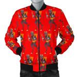 Red Krampus Pattern 3D Printed Unisex Jacket