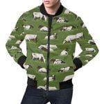 Cow Green Farm Pattern 3D Printed Unisex Jacket