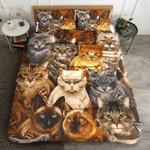 Cat Breeds Printed Bedding Set Bedroom Decor