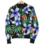 Blue Hawaiian Wildflowers Pattern 3D Printed Unisex Jacket