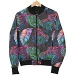 Colorful Tropical Leaves Pattern  3D Printed Unisex Jacket