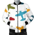 Airplane Star Cloud Colorful Pattern 3D Printed Unisex Jacket