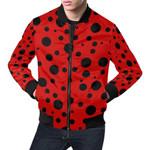 Black Dot Ladybug Pattern 3D Printed Unisex Jacket