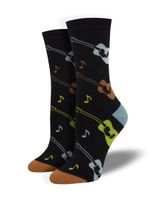 """Women's Bamboo """"Listen To The Music"""" Socks Comfortable Funny Cute Unique Socks"""