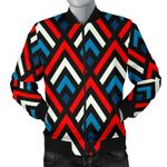 Zig Zag Red White And Blue Pattern 3D Printed Unisex Jacket
