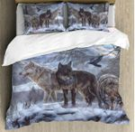 Wolf Family Winter Season Bedding Set Bedroom Decor