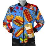 Pattern All Of Fastfood 3D Printed Unisex Jacket