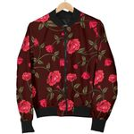 Red Rose Floral Flower Pattern  3D Printed Unisex Jacket