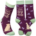 """""""I Cannot Live Without My Dog"""" Socks Lovely Birthday Gift For Men Women Comfortable Unique Socks"""