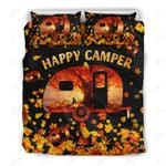 Camping Autumn Bus Printed Bedding Set Bedroom Decor