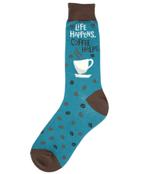 Men's-Life Happens, Coffee Helps Socks Comfortable Funny Cute Unique Socks