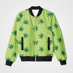 Weed Green Pastel 3D Printed Unisex Jacket