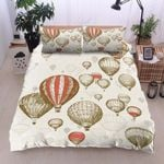 Vintage Air Balloon Flying Sky Bedding Set Bedroom Decor