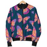 Orange And Purple Butterfly 3D Printed Unisex Jacket