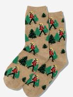 HotSox Women's Hiker Tan Socks Comfortable Funny Cute Unique Socks