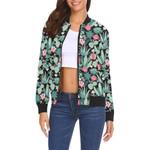 Black Cactus Pattern 3D Printed Unisex Jacket