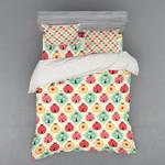 Ladybugs Pattern Colorful Printed Bedding Set Bedroom Decor