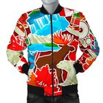 Love Red Canada Pattern 3D Printed Unisex Jacket