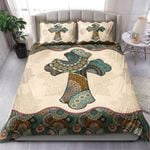 Cross Mandala Pattern Printed Bedding Set Bedroom Decor