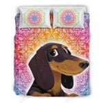 Dachshund Paisley Design Printed Bedding Set Bedroom Decor