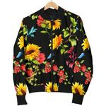 Sunflower Floral Pattern 3D Printed Unisex Jacket