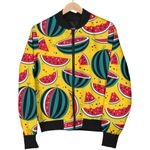 Yellow Watermelon Pieces Pattern 3D Printed Unisex Jacket