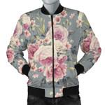Peony Pattern Print Design PE05 Men Bomber Jacket